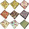 Weishang Mens Printing patterns Pocket Square Handkerchief (9 pcs) (Style D)