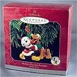 QXD4013 Mickey's Favorite Reindeer Mickey and Co. 1998 Hallmark Keepsake ornament