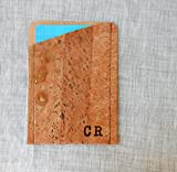 Personalized-Card-Holder-Cork-Card-Wallet-Custom-Credit-Card-Wallet-Mens-Wallet-Mens-Anniversary-Gift-Monogram-Custom-Wallet