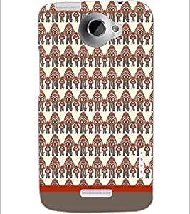 PrintDhaba Elephant Pattern D-1895 Back Case Cover for HTC ONE X (Multi-Coloured)