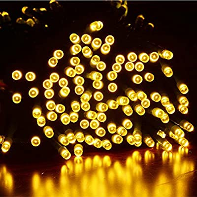 Dephen Solar Powered and Plug-in String Lights 72ft 200 LED Fairy Starry Christmas Waterproof String lights for Outdoor,Garden,Holiday, Wedding,Party, Christmas Tree Decoration