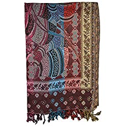 Btex Women's Shawl (Multi-color,70 Cms)