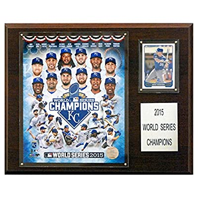 C and I Collectables MLB 15W x 12H in. Kansas City Royals 2015 World Series Champions Plaque