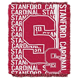 Buy NCAA Stanford Cardinal 48 x 60-Inch Double Play Jacquard Triple Woven Throw by Northwest