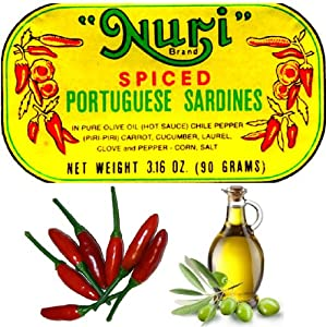 4-cans Nuri Portugese Sardines Spicy In Olive Oil 90g Ea 360g Total by Pinhais & C.a. L. da