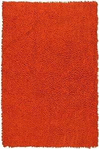 Orange 4x6' Shagadelic Chenille Twist Rug from St. Croix