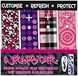 echange, troc Wrapstar Loaded 4-Pack Graphic Skin for Nunchuk and Remote (Wii) [Import anglais]
