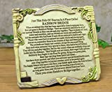 Rainbow Bridge Pet Remembrance Desktop Plaque with Easel Back. Made of polystone these plaques have a hand-carved look. Plaques are hand-painted and are just the right size for any desk at home or the office. Plaque has a built-in easel back....