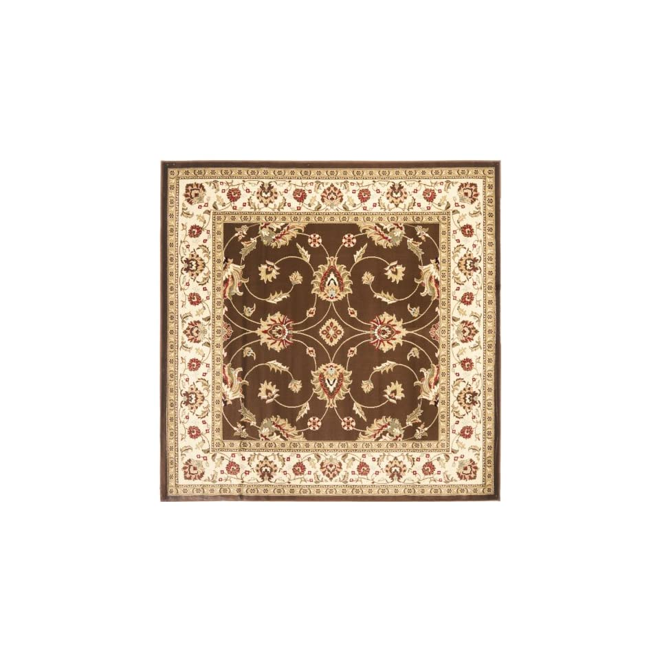 Safavieh Lyndhurst Collection LNH553 2512 Traditional Floral Brown and Ivory Square Area Rug (67 Square)