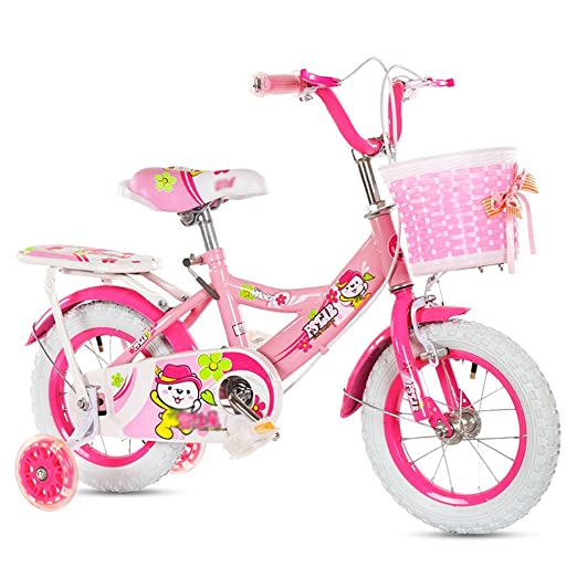 Bicyclettes pour enfants Garçons Filles Carrières pour bébés Vélo de montagne pour enfants (en option) ( Couleur : Rose , taille : 18 inch )