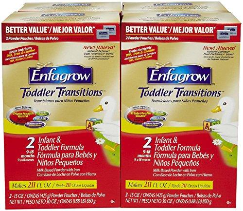 Enfagrow Toddler Transitions Toddler Formula - Powder Refills - 30 Oz - 4 Pk