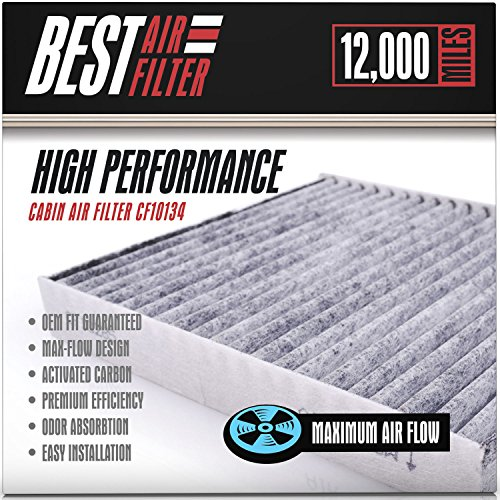 Best Cabin Air Filter for Honda / Acura (TRIPLE BARRIER PROTECTION) Replacement Filter for Accord, Civic, Pilot, CR-V, Odyssey, Ridgeline, RL, TL, MDX, RDX, TSX, RLX - Competes with FRAM CF10134
