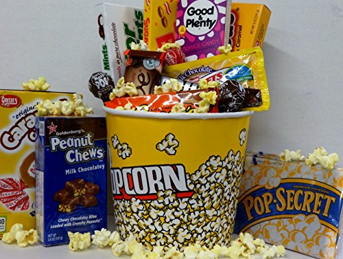 Old Fashion Movie Night Candy Gift , Movie Theater Boxed Candy Bundle image