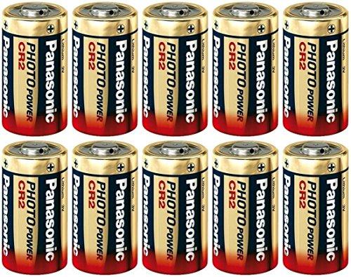 10 Panasonic Ultra CR2 3v Lithium Photo Battery DL-CR2 (Panasonic Cr2 Lithium 3v Battery compare prices)