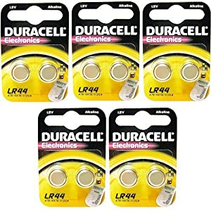 10 x Duracell LR44 A76 1.5V Alkaline Batteries