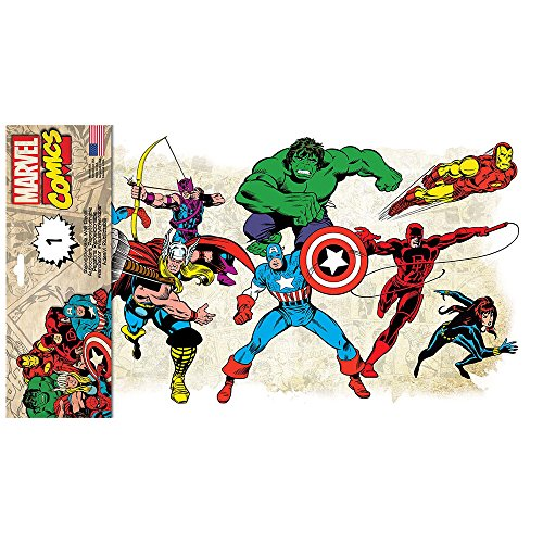 stickers marvel comics classic roommates repositionnables 41x23cm. Black Bedroom Furniture Sets. Home Design Ideas