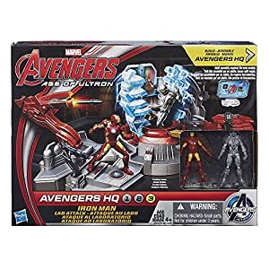 Marvel Avengers Age of Ultron Iron Man Lab Attack Playset
