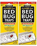 Bed Bug Traps w/irresistible lures (2-Pack of 4) 8 Traps