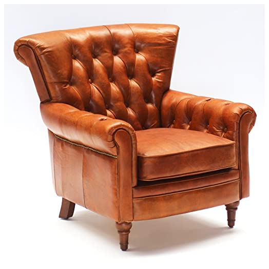 Poltrona Sofà Lounge Club Chesterfield vintage 549 in pelle