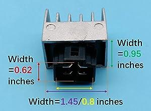 Tuzliufi Replace Voltage Regulator Rectifier Honda CG125 CRF 150 CRF 230 CRM50R C90 CT 110 Elite NH 90 SRX NJ50MD NSR50R NSR75R PK 50 SFX SGX SH SH 100 SJ SJ SK SRX SZX Z50J Kymco Sento Aprilia SR Mojito Z145