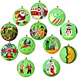Diwali Ornaments Parrot Green Decor Paper Mache Balls Set of 12