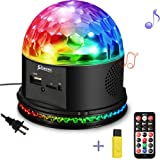SOLMORE Disco Lights for Parties Sound Activated Strobe Light Disco Ball Dj Lights 7Colors Disco Party Lights Show for Parties Wedding DJ Karaoke Outdoor Gift with Remote (Color: 7colors)