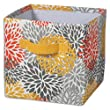 Sturdy Fabric, Brite Ideas Blooms Citrus Storage Bin with Handle