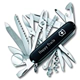 Personalized SwissChamp Black Swiss Army Knife by Victorinox (Color: Black)