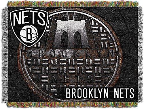 Northwest 1Nba-05150-0017-Ret Bklyn Nets - Sewer Cap Nba Tapestry Throw 46X60 front-870719