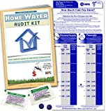 Home Water Audit Kit - Faucet Flow Gauge Measuring Bag & Toilet Leak Detecting Tablets. Water Saving for Shower and Faucet | Dye Tablets for Silent Bathroom Toilet Leaks.