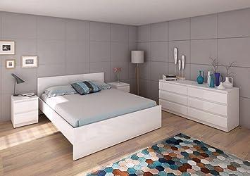 Schlafzimmer NAIA Komplettset Schlafzimmerset Weiß Hochglanz