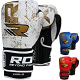 Authentique RDX Gants en cuir Gel combat de boxe, Punch Sac MMA Muay thai Grappling Tapis Rouge,Bleu,D'or