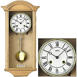 Amazon.com: AMS 614/5 wall clock with pendulum. housing ...