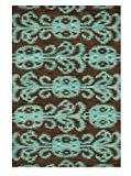 "Loloi Rugs,  MILANO COLLECTION,  MILAML-07CTTE2676,  CHOCOLATE / TEAL  2'-6""  x  7'-6"""