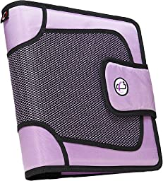 Case-it Open Tab Velcro Closure 2-Inch Binder with Tab File, Lavender, S-816-LAV