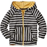 Hanna Andersson Baby Supercozy Jersey Lined Hoodie, Size 80 (18-24 Months), Soft Black