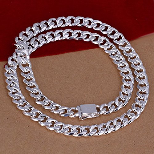 new-925-sterling-silver-jewelry-10mm-square-buckle-side-24-men-necklace-statement-fashion-vitage-pen