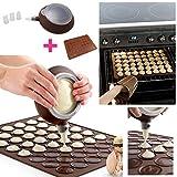 Anokay-Macarons-set-pour-seringue-de-ptisserie-crme-Cup-cake-muffin-gaufre-48-silicone-mat-retour-de-fondant-de-Macarons-forme-dcorative--ptisserie-4-oeillets-de-garniture