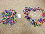 "Rainbow Rubber Loom Rainbow Bands, 1200 Pieces with 48 ""S"" Clips, Rubber Loom Bands Refill Kit, Assorted Colors, Latex Free Friendship Bracelets Rubber Bands, Make Custom Rubber Bracelets, Create Rxchange Friendship Bands, Freindship Bracelets, with Friends"