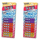 PEZ Twin 8 Pack - Mixed Fruit For PEZ Dispensers - Orange, Strawberry, Grape, and Lemon - Price For Two Packs