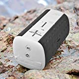 MOCREO® Waterproof Portable Wireless Bluetooth Speaker Indoor/Outdoors Ultra mini W/ Dual Speakers / Rechargable Built-in Battery / TF card Supported for iPhoneiPodSamsung Galaxy S3/S4/S5 and Other Bluetooth DevicesMP3 Players - MOSOUND Bar (White)