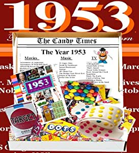 Amazon.com: 60th Birthday Retro 1953 Candy Box Jr. with 1953