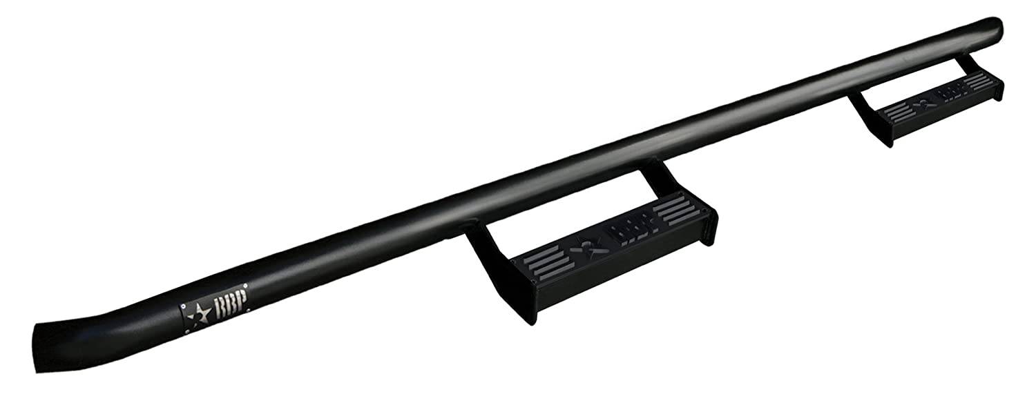 RBP J0746-RX2 Step Bar for 2007-2010 2 Door Jeep Wrangler JK 2x 7 inch round 75w led headlight drl hi lo beam black aluminum housing for jeep wrangler jk hummer