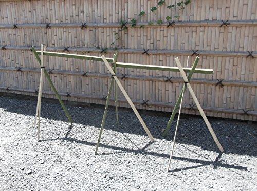 【青竹】流しそうめんセット(水路2m+竹脚)
