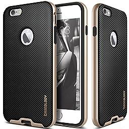iPhone 6 Case, Caseology® [Envoy Series] Premium Leather Bumper Cover [Carbon Fiber Black] [Leather Bound] for Apple iPhone 6 (2014) & iPhone 6S (2015) - Carbon Fiber Black