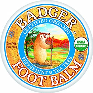 Badger FOOT BALM Certified Organic Moisturises & Repairs Dry Cracked Feet 21g
