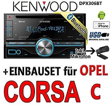 Opel corsa c, kenwood-noir-dPX306BT 2DIN bluetooth uSB