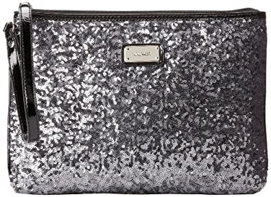 Nine West Geo Sequins Large Wallet 玖熙 女士 亮片 钱包 银色 $13.99