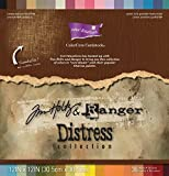 Darice GX-1900-00 36-Pack Core'dinations Tim Holtz Color Core Cardstock, Distressed, 12 by 12-Inch, Assorted Color image