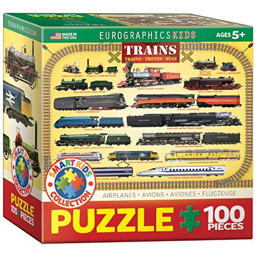 EuroGraphics Trains 100 Piece Puzzle (Small Box) Puzzle